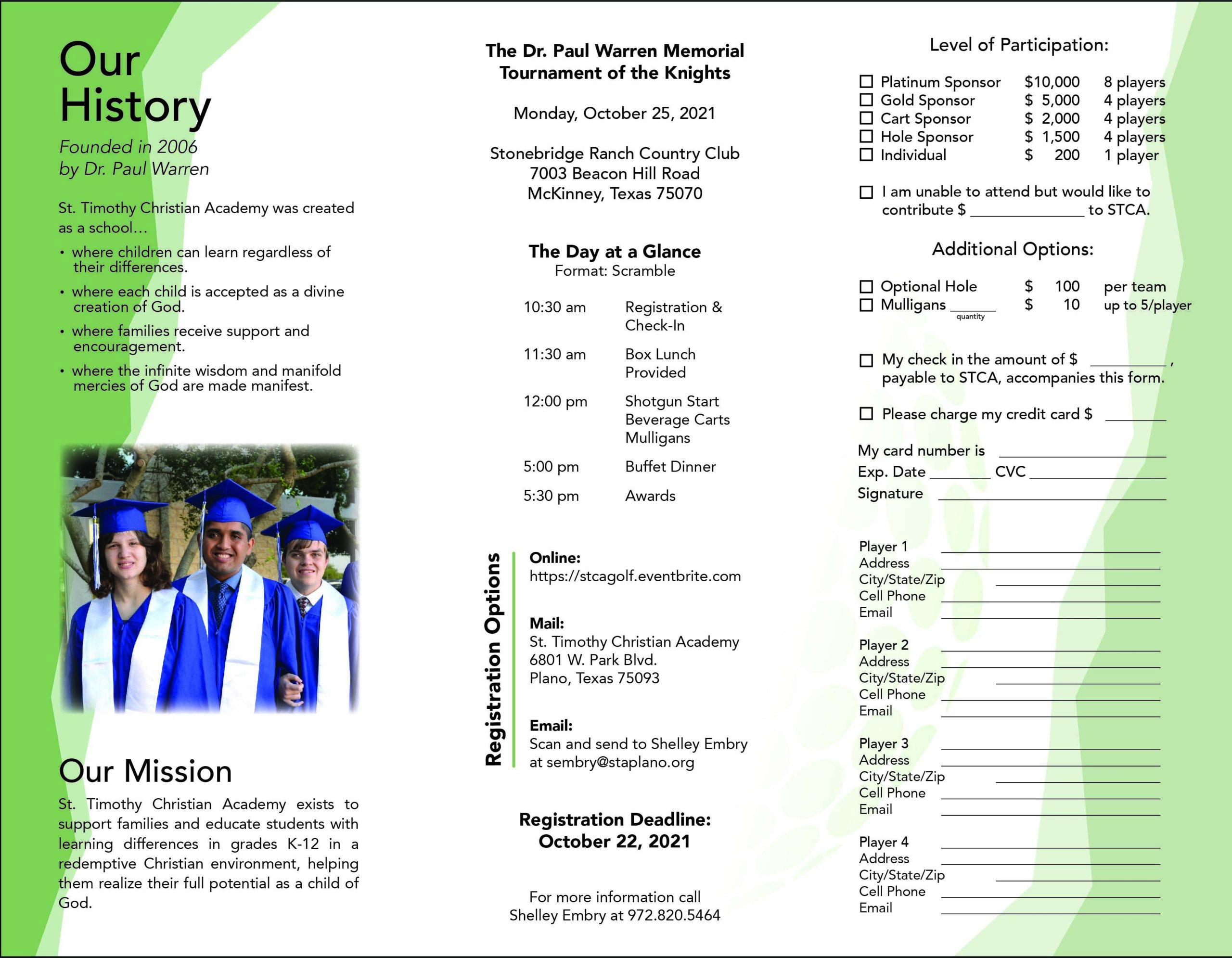 Golf tournament brochure image page 2
